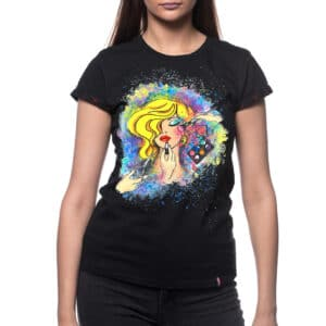"""Painted T-shirt """"I'M A BEAUTY MASTER"""""""