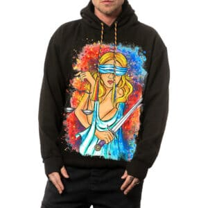"""Painted Hoodie """"I'M A LAWMAN"""""""